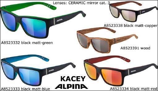 Alpina Sportbrille Kacey Ceramic Mirror black matt red